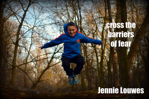Cross the Barriers - Word Over-lay by Jennie Louwes