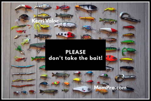 Don't Take The Bait - Image Provided by mirandableijenberg via Pixabay - Word Overlay by Louwes Media