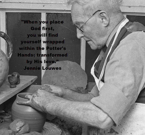 The Master Potter - Image by Jusben via Morgue File - Word Overlay by Jennie Louwes