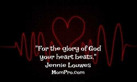 Our heart beat? God's glory - Word Overlay by Jennie Louwes
