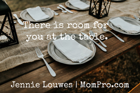Room at the Table - Image modified by Jennie Louwes - Image Provided by Hannah Busing - Freely Photos
