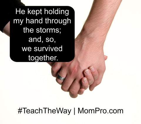 Holding Hands - Image Provided by Freely Photo's - Word Overlay by Jennie Louwes
