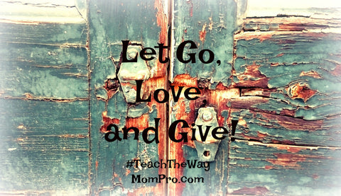 Let Go and Give - Word Overlay by Jennie Louwes