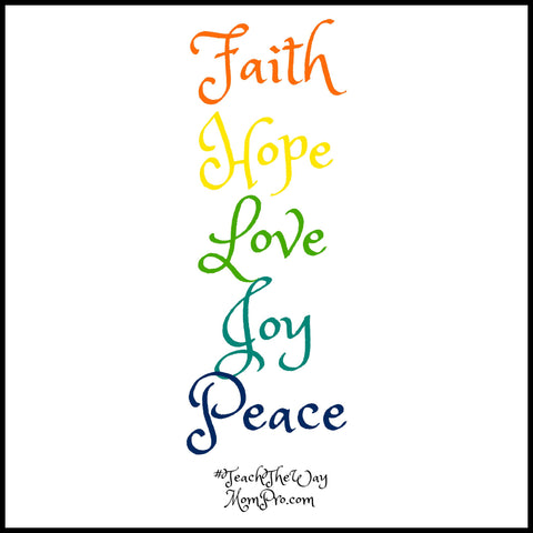 Faith, Hope, Love, Joy, Peace - Image by Jennie Louwes