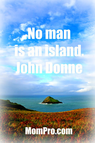 No Man An Island - Word Overlay By Jennie Louwes