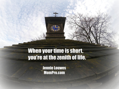 When Time is Short - Word-Overlay by Jennie Louwes