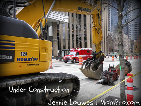 Construction Zone - Word Overlay by Jennie Louwes