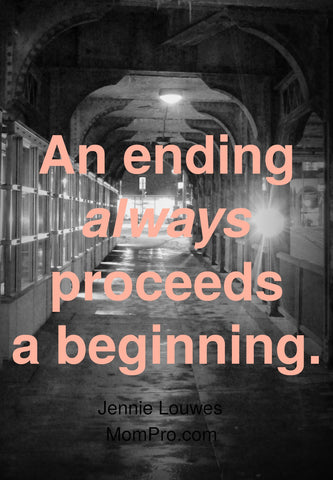 Endings and Beginnings are Inter-Changeable - Word Over-lay by: Jennie Louwes