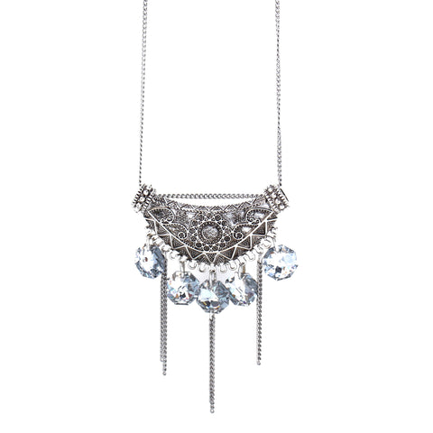 Crystal Fringe Necklace (long) // Collier Crystal Fringe (long)