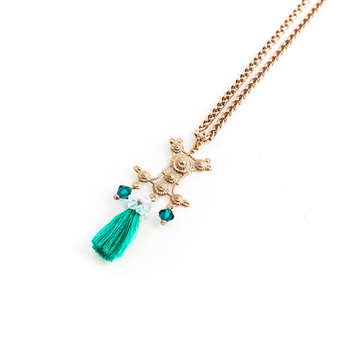Long Seafoam Necklace//Collier Long Seafoam