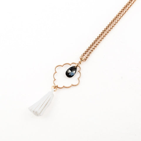 Long Crystal Resort Necklace // Collier long Crystal Resort