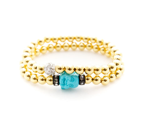 Trunkfull of Happiness Bracelet Set (Gold)