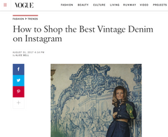 Best Vintage Denim Instagram