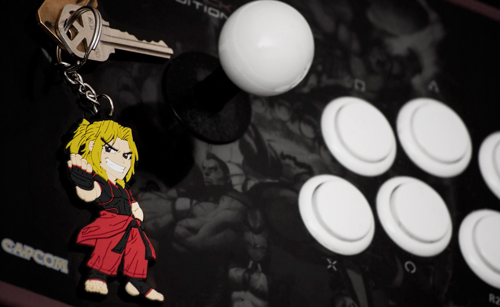 Street Fighter Ken Keychain by Eighty Sixed