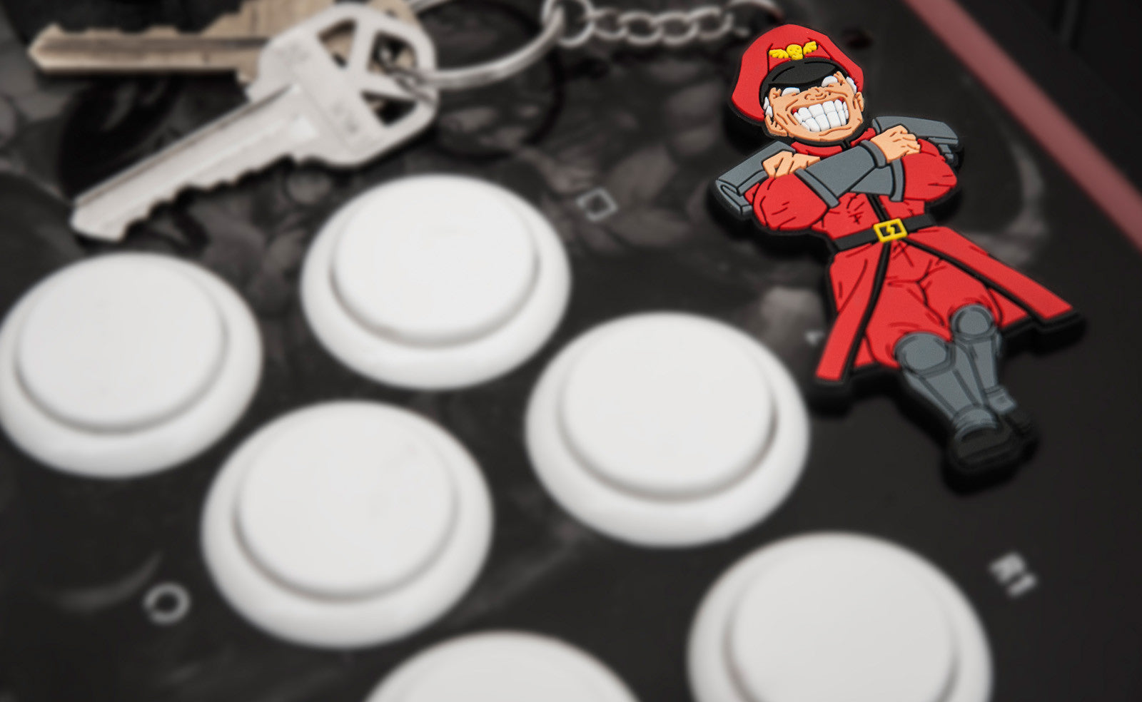 Street Fighter M. Bison Keychain by Eighty Sixed
