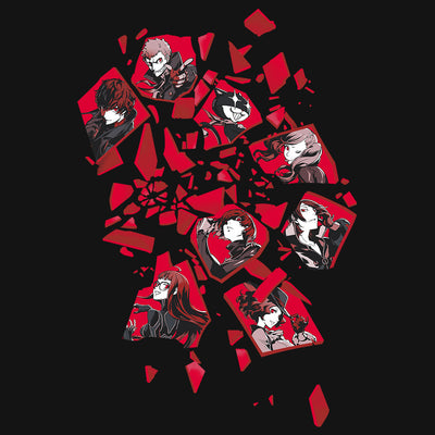 Persona 5 All Out Attack T-Shirt Design
