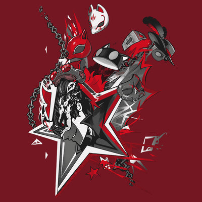 Persona 5 Masks T-shirt Design by Eighty Sixed