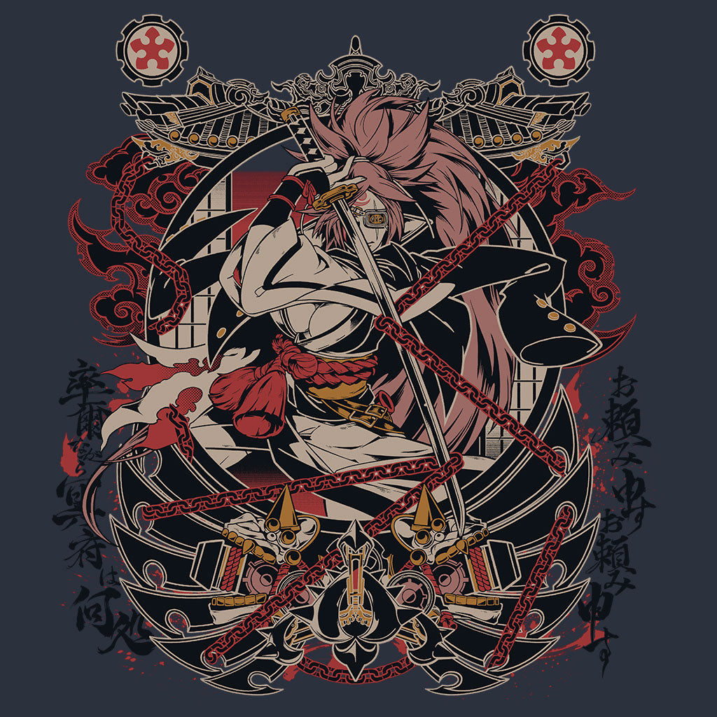 Guilty Gear Baiken T-Shirt Design