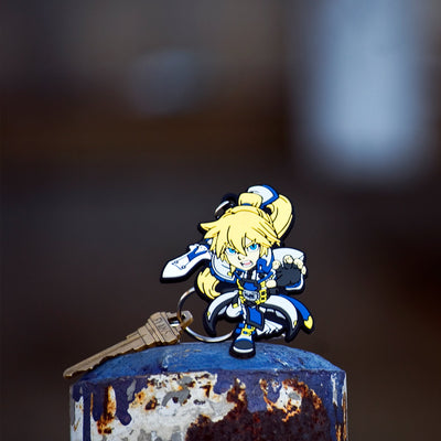 The Guilty Gear Ky Kiske keychain by Eighty Sixed