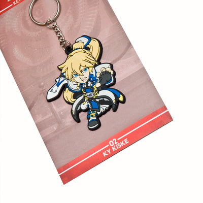 Guilty Gear Ky Kiske Keychain with packaging