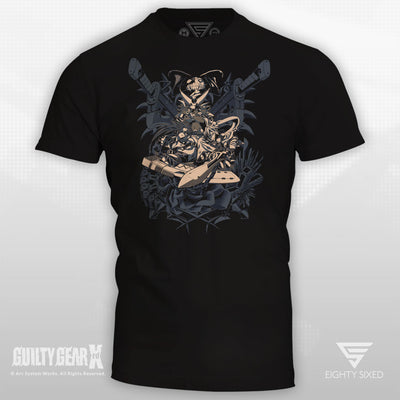 Guilty Gear No Mercy T-Shirt, featuring Sol Badguy, Ky Kiske and Ramlethal.