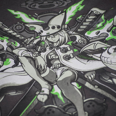 A closeup view of the Ramlethal design on this Guilty Gear tee.