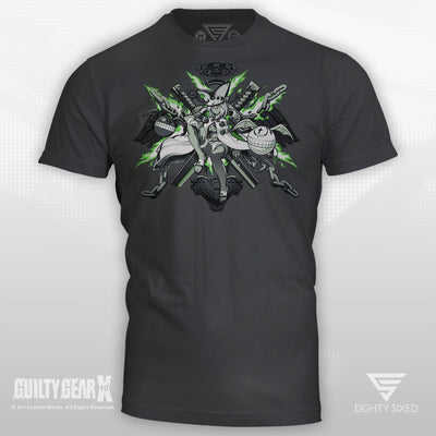 Guilty Gear Ramlethal T-Shirt printed on a charcoal colored tee.