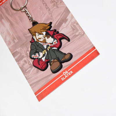 Guilty Gear Slayer Keychain with packaging