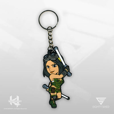 Killer Instinct Orchid Keychain by Eighty Sixed