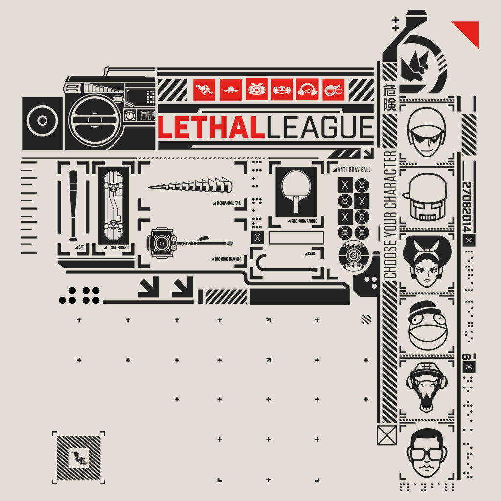 Lethal League Fundamentals Shirt Design by Eighty Sixed