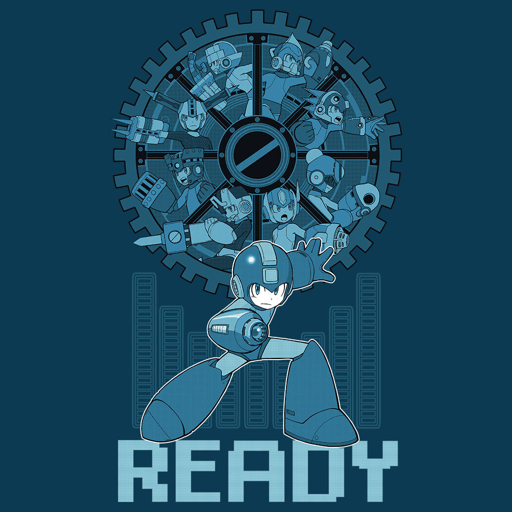 Mega Man 11 Gear Up T-Shirt Design by Eighty Sixed.