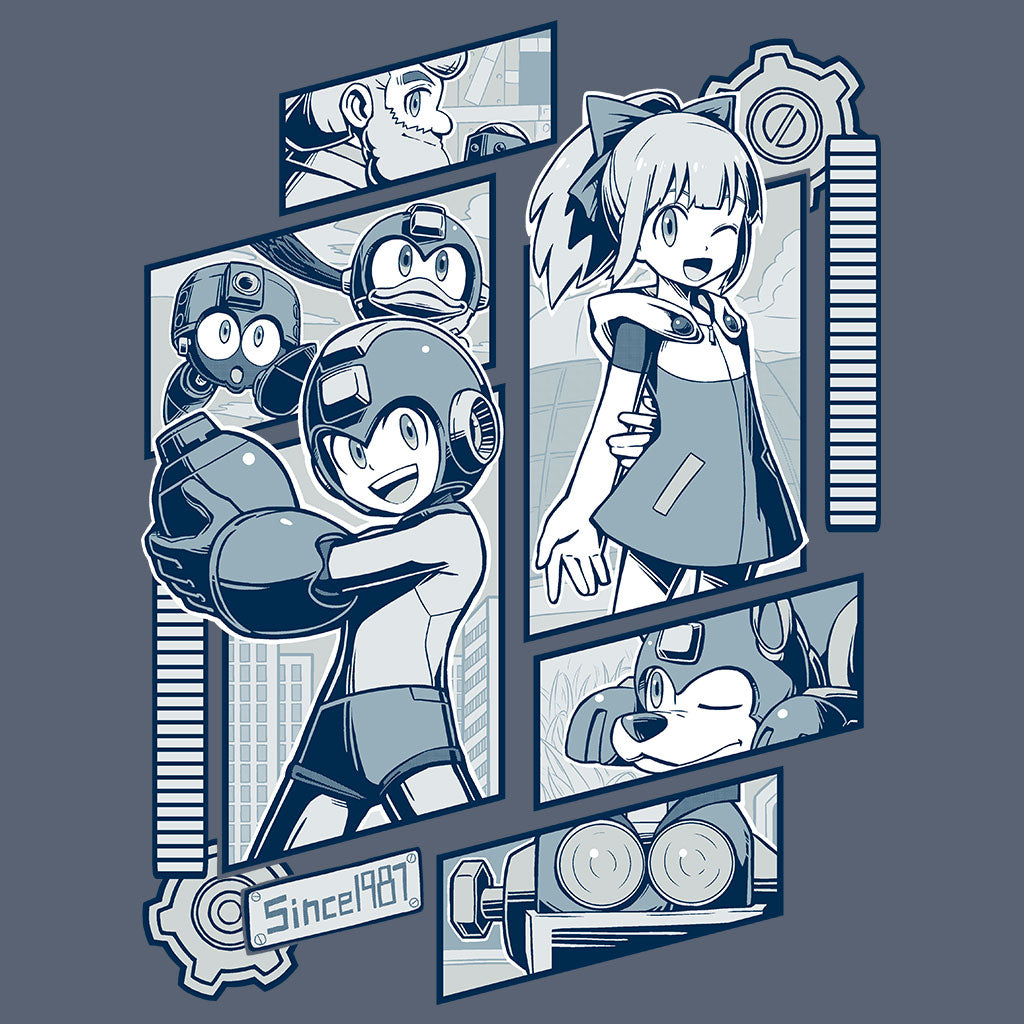 Megaman Light Labs T-Shirt Design by Eighty Sixed
