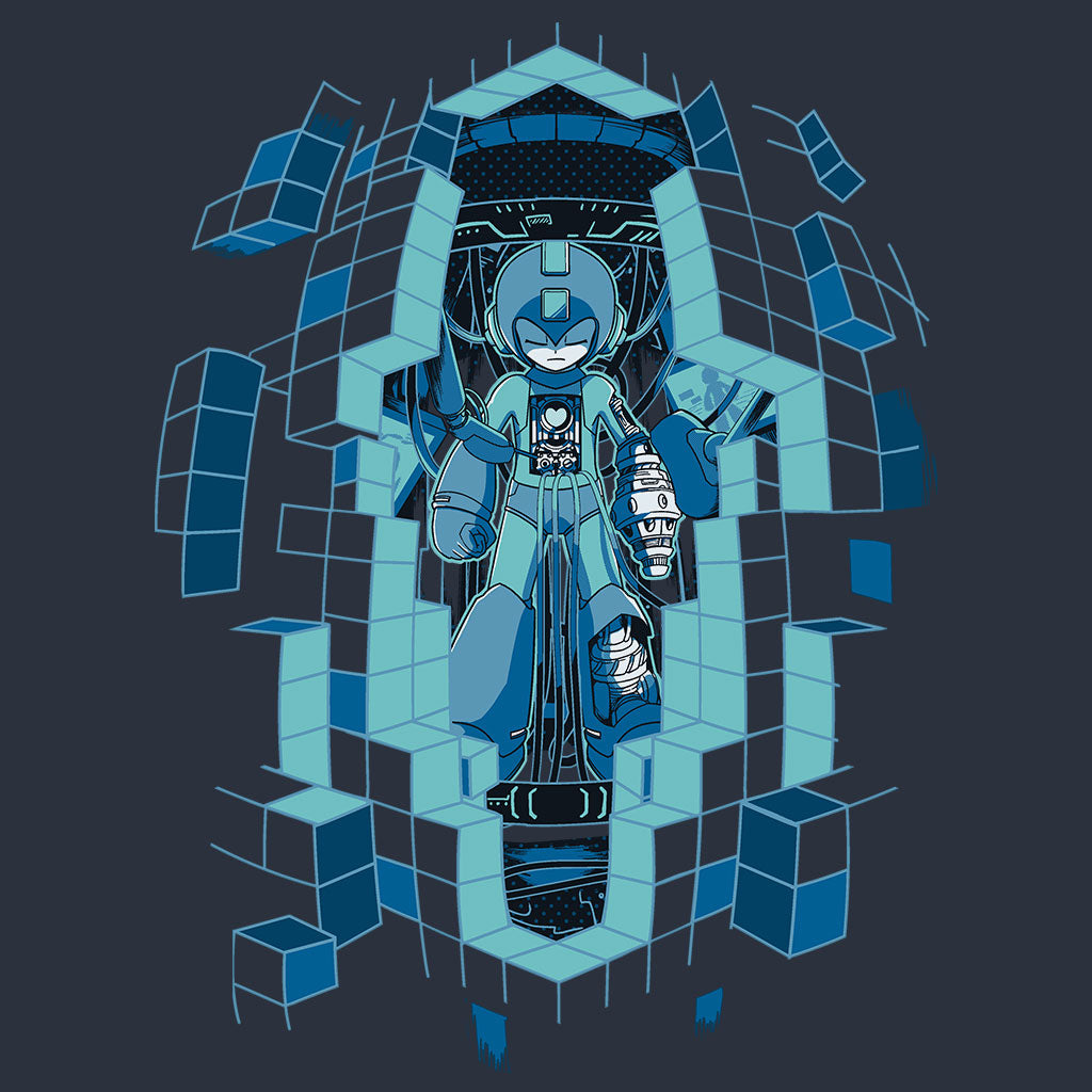 Mega Man 11 'Upgrade' T-Shirt Design by Eighty Sixed