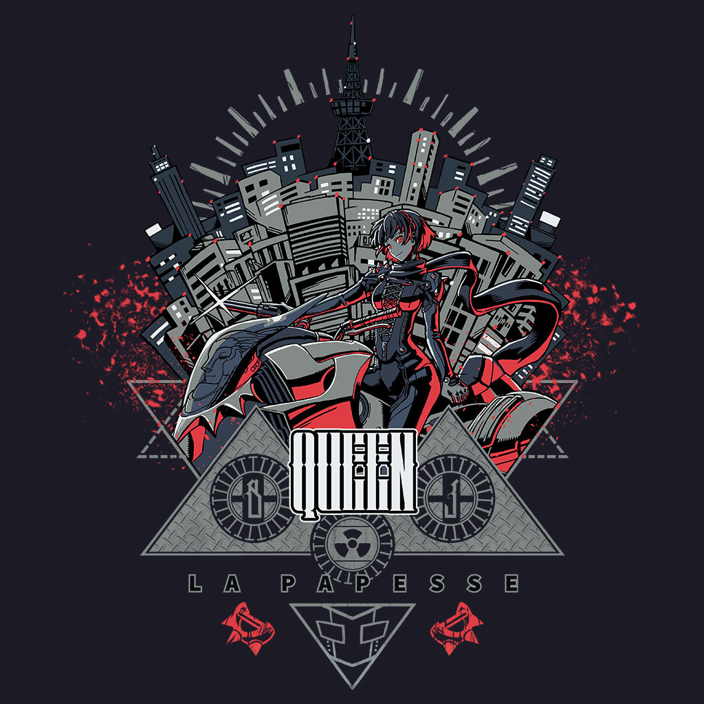 Persona 5 Queen T-Shirt Design by Eighty Sixed