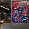 Persona 5 Metaverse poster photo in a subway station.