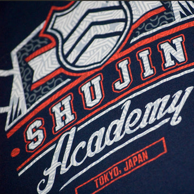 Closeup of the Persona 5 Shujin Academy T-Shirt