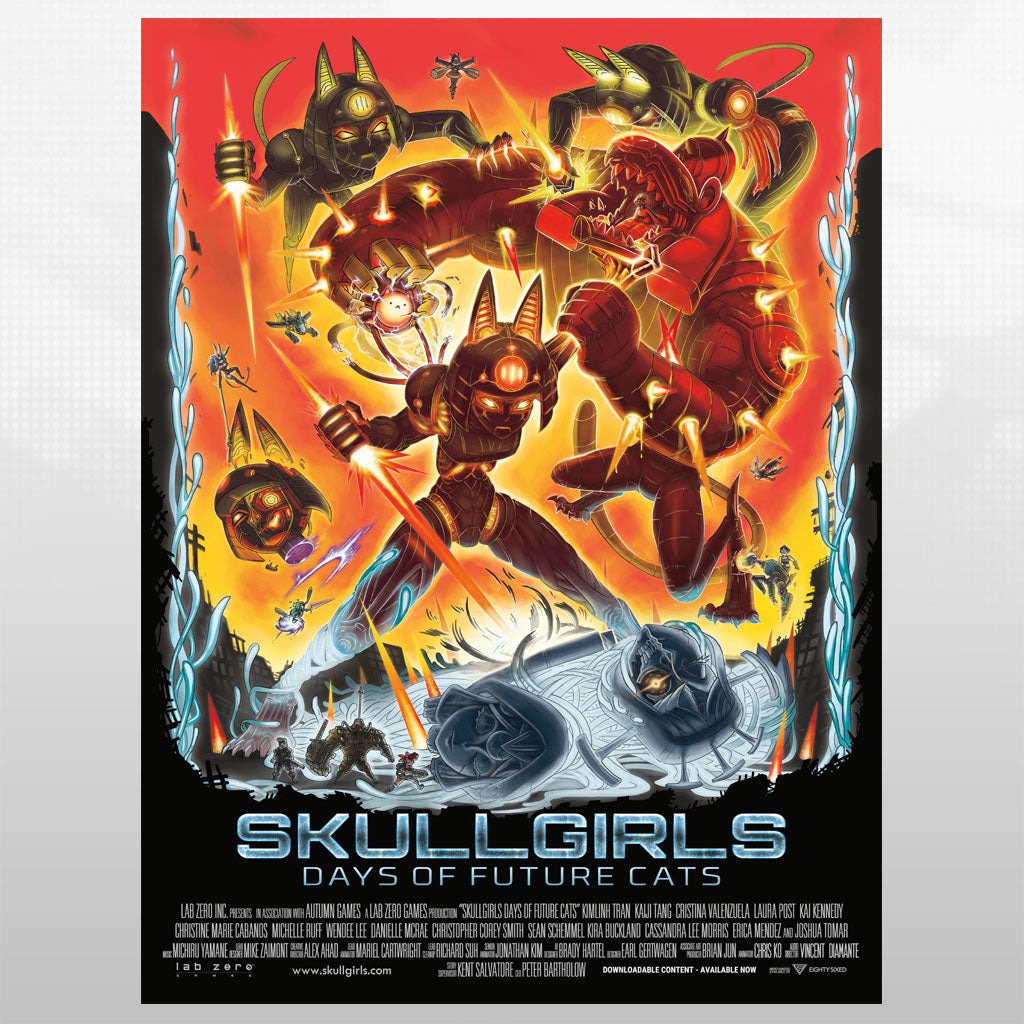 Skullgirls - Days of Future Cats Poster