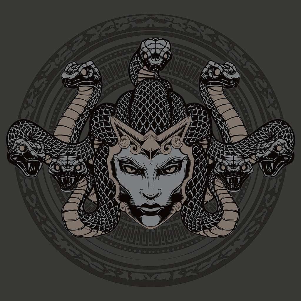 Smite Medusa T-Shirt Design by Eighty Sixed