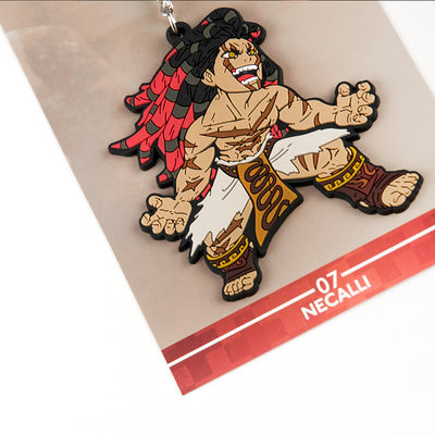 Street Fighter Necalli Keychain with packaging.