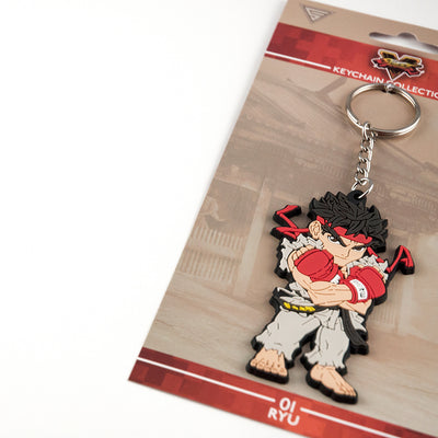 Street Fighter Keychain and packaging