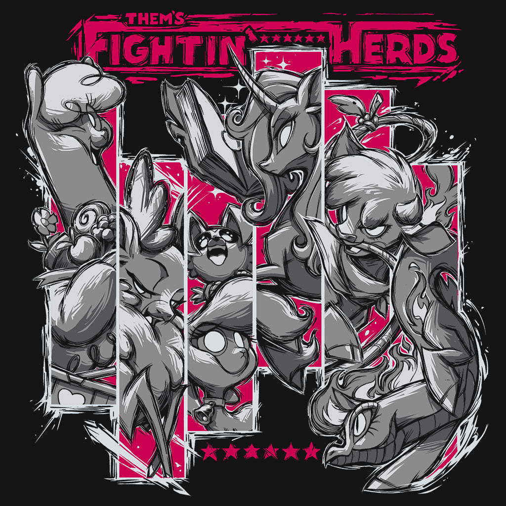 Them's Fightin' Herds T-Shirt Design by Eighty Sixed