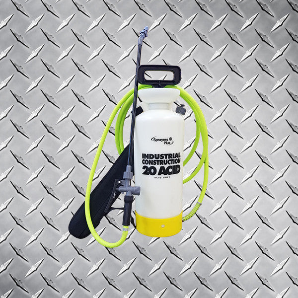 2 Gallon Hand Pump Acid Sprayer with 12' Flex Hose