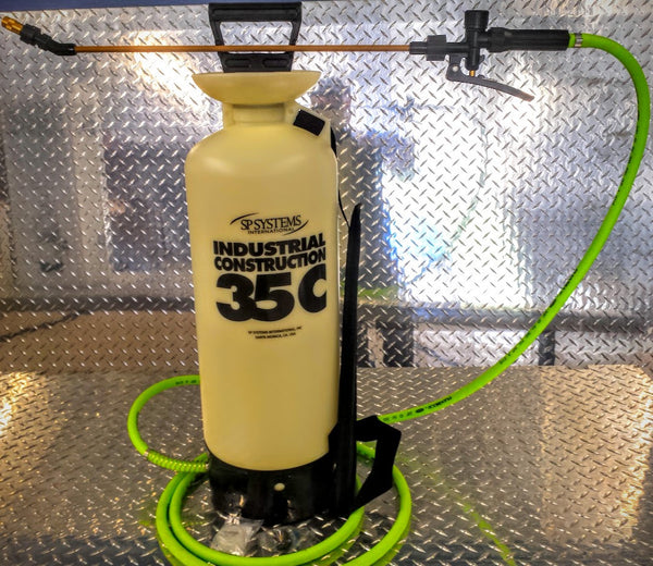 SP Systems 3.5 Gallon Heavy Duty Hand Pump Sprayer with 12' Flex Hose