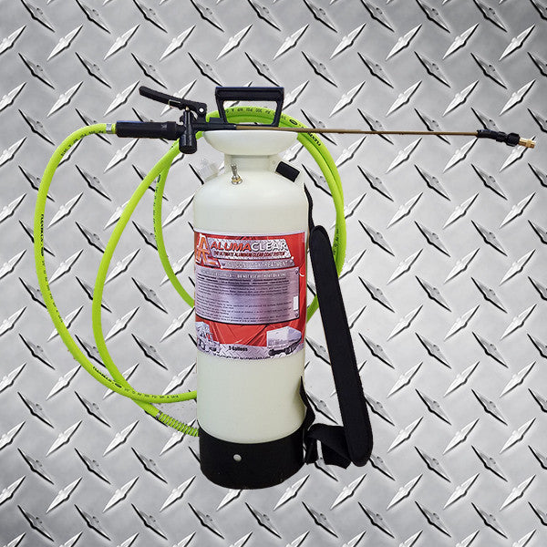 Pump up sprayer, cement remover, silicone wax treatment