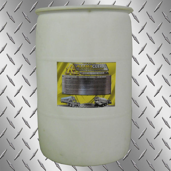 Cement & Lime Remover, 55 gallons, Removes Cement and lime build up from painted and aluminum surfaces