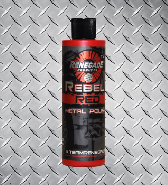 Rebel Red Metal Polish 12 oz bottle