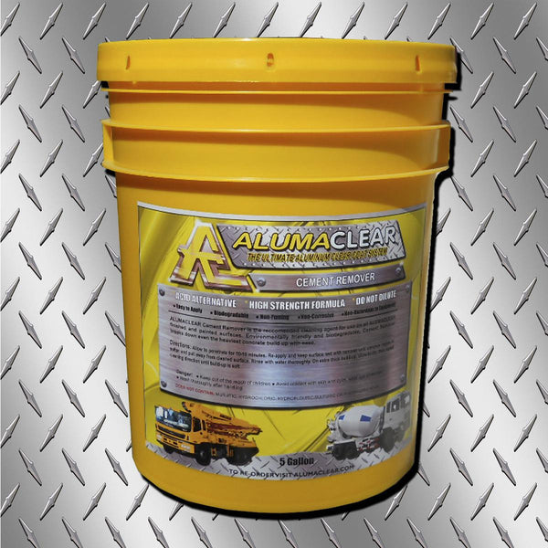 Cement & Lime Remover, 5 gallons, Removes Cement and lime build up from painted and aluminum surfaces