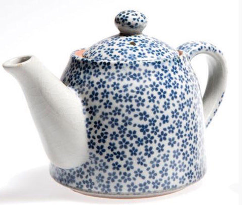 Ceramic Blue Daisy Tea Pot