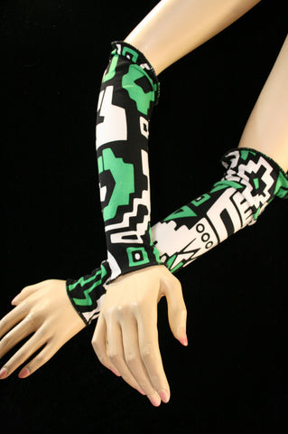 Every which way Arm warmers fingerless gloves crazy belly dance tribal rave club costume