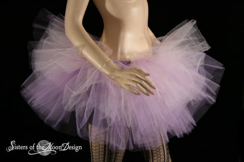 Lavender and baby Pink tutu skirt Layered two tone pastel fairy dream adult dance
